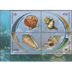 G)2007 URUGUAY, SHELLS-OPEN WATER, S/S, MNH