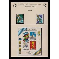 E)1982 URUGUAY, GOLD CUP FIFA, FOOTBALL, CHAMPION, AUF, MNH
