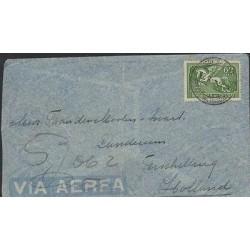 O) 1938 URUGUAY, AIRMAIL PEGASUS 62 CENTS GREEN, XF