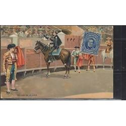 O) 1913 URUGUAY, POSTCARD, BULLFIGHTING, REVOLUTION RIO DE LA PLATA JOSE GERVASI
