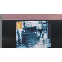 O) 1997 URUGUAY, MAXIMUM CARD, MAILBOX, TRAIN, BRIDGE, CANCELLATION, XF