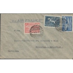 O) 1938 URUGUAY, HORSE 50 CENTS PEGASUS, RIO NEGRO DAM 10 CENTS BLUE, DAM 15 CEN