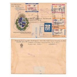 E) 1987 URUGUAY, AIR MAIL, TO ECUADOR FDC