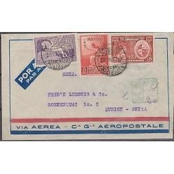 O) 1939 URUGUAY, PEGASO, 8 CENTS, 24 CENTESIMOS,AIRMAIL FLOGH COMPAGNIE, AEROPOS