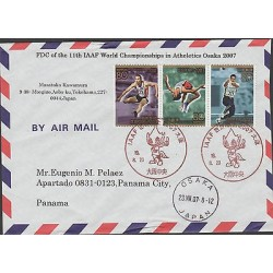 O) 2007 JAPAN-OSAKA, IAAF-WORLD CHAMPIONSHIPS IN ATHELETICS, FDC USED TO PANAMA,