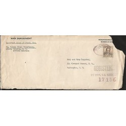 E)1950 PANAMA, CANAL ZONE POSTAGE, CIRCULATED COVER FROM PANAMA TO USA