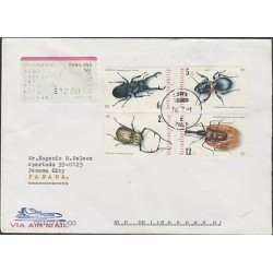 O) 2001 THAILAND, BEETLES, INSECTS, COVER TO PANAMA, XF