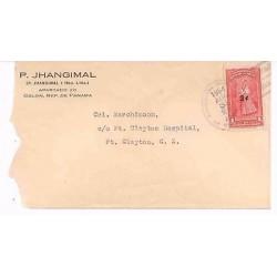 E) 1954 PANAMA, PANAMA POLLERA OVERPRINT 3C