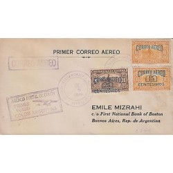 G)1929 PANAMA, AGENCIA POSTAL DE COLON PRIMER VUELO COLON-ARGENTINA PURPLE BOX,