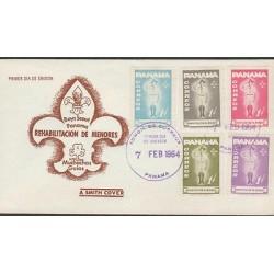 O) 1964 PANAMA, SCOUTS, JUVENILE REHABILITATION, FDC XF