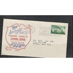 RO)1979 PANAMA, CANAL ZONE 15 C., BOAT, 75TH ANNIVERSARY PANAL CANAL, FDC USED,