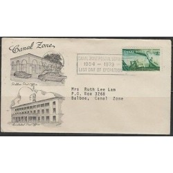 O) 1979 PANAMA, CANAL ZONE 15 C., BOAT, BALBOA POST OFFICE, FDC USED, INTERNAL S