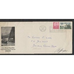 O) 1979 PANAMA, ROOSVELT 2 C. CANAL ZONE 13 C. BOAT, DREDGE CASCADAS, LAST DAY O
