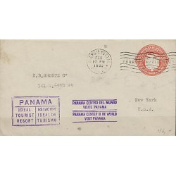 G)1932 PANAMA, PANAMA IDEAL TOURIST RESORT & PANAMA CENTER OF THE WORLD VIOLET S