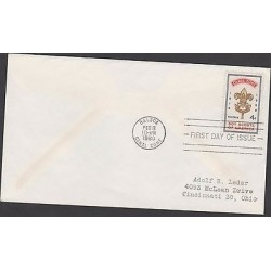o) 1960 PANAMA - CANAL ZONE, FLOWER OF LIS, SCOUTS, FDC USED