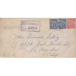 G)1931 PANAMA, EGALE-COAT OF ARMS, REGISTERED PURPLE BOX AGUADULCE, REGISTERED C