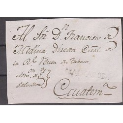 O) 1800 EL SALVADOR, 1800 CIRCA, SMALL SALVADOR CANCELLATION LINE WITH DOT , FRO