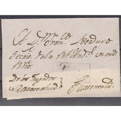 "O) 1810 EL SALVADOR, ZACATECOLUCA TO GUATEMALA, COLONIAL FRONT WITH BOX ""ZACATE/"