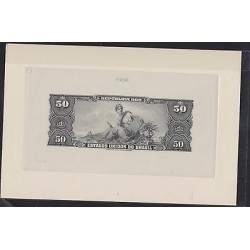 O) 1966 BRAZIL, BANKNOTE - BLACK DIE SUNKEN PROOF ENGRAVED, LAW AUREA - ISABEL