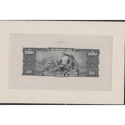 O) 1967 BRAZIL, BANKNOTE- BLACK DIE SUNKEN PROOF ENGRAVED, UNITED STATES OF BRA