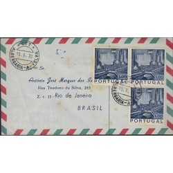 O) 1970 PORTUGAL, OIL INDUSTRY, COVER TO BRAZIL, XF