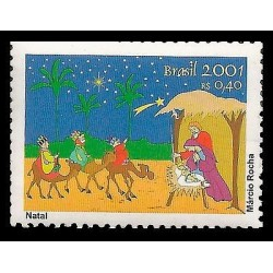 B)2001 BRAZIL, NATAL, CHRISTMAS, WISE MEN, STARRY NIGHT, SINGLE, MNH