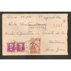 O) 1959 BRAZIL, WRITER, AND POLITICAL JURIST, LANE, COVER TO BARBACENA