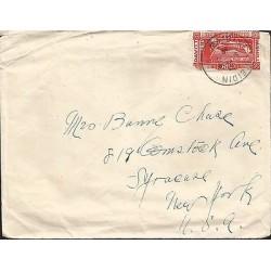 E)1930 IRELAND, MICHAEL DAVITT, CLASSIC CIRCULARED COVER TO USA, RARE DESTINATIO