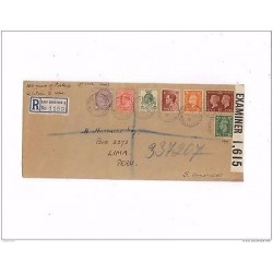 O) 1940 GREAT BRITAIN, VICTORIA AND GEORGE V, MULTIPLE COVER TO LIMA-PERU, XF