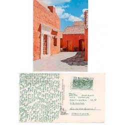 E) 1975 PERU, WITH CENTRO MINERO GREEN STAMP. POST CARD
