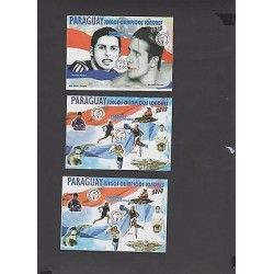 O) 2012 PARAGUAY, OLYMPIC GAMES LONDRES 2012, SOUVENIR FOR 3 ROULETTING, MNH