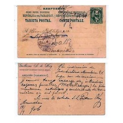 E) 1910 PARAGUAY, POSTAL STATIONARY CIRCULATED