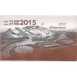 RO)2014 QATAR, ARCHITECTURE, HANDBALL CHAMPIONSHIP, GOLD FOIL, EMBOSSED, SOUVENI