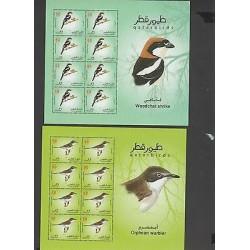 O) 2009 QATAR, BIRDS, MINISHEET FOR 6, MNH
