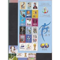 O) 2002 QATAR, FIFA WORLD CUP FROM 1998 TO 2002, FAIR PLAY, SPECIAL EDITION, MNH