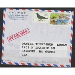 O) 2000 CHILE, WILDLIFE, BIRD, HABITAT, COVER TO USA, XF