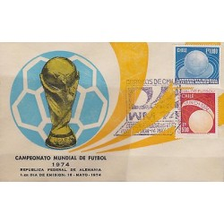 G)1974 CHILE, WORLD CUP GERMANY '74, CUP-SOCCER BALL-WORLD, FDC, XF