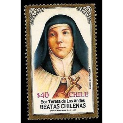 E)1989 CHILE, SOR TERESA OF THE ANDES, BLESSED, RELIGION, CATHOLICISM, MNH