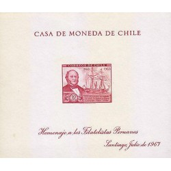 G)1967 CHILE, WILLIAM WHEELWRIGHT AND S.S. CHILE, TRIBUTE TO THE PERUVIAN PHILAT