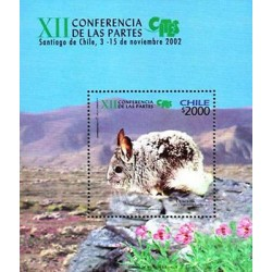 E)2002 CHILE, RABBIT-FLOWERS, XVII CONFERENCIA DE LAS PARTES, S/S, MNH