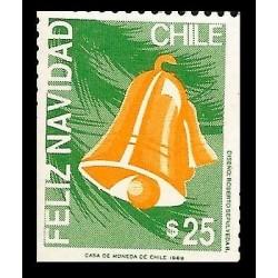 E)1999 CHILE, CHRITSMAS, NATALE, BELL, MNH