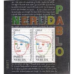 E)1991 CHILE, PABLO NERUDA, LITERATURE NOBEL PRICE, S/S, MNH