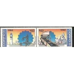 E)1976 CHILE, 50 YEARS OF COPPER INDUSTRY, PRODUCTION, MNH
