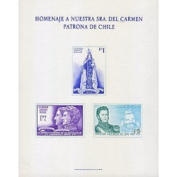 G)1970 CHILE, VIRGIN & CHILD-SAN MARTIN & O'HIGGINS-BERNARDO O'HIGGINS & SHIP, T