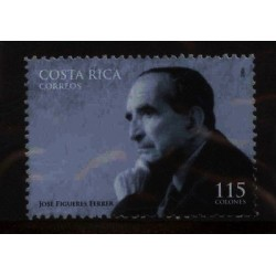 E) 2006 COSTA RICA, PRESIDENT, JOSE FIGUERES FERRER, MNH