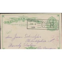 O) 1908 COSTA RICA, POSTAL STATIONARY, COLON 2 CENTIMOS GREEN, JUN. 3- CARTAGO -
