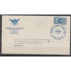O) 1949 COSTA RICA, PRESIDENT OF COSTA RICA-ANICETO ESQUIVEL-25 CENTIMOS, COVER