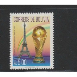 O)1997 BOLIVIA, ELIMINATING THE WORLD FRANCE 1998, EIFFEL TOWER, TROPHY, MNH