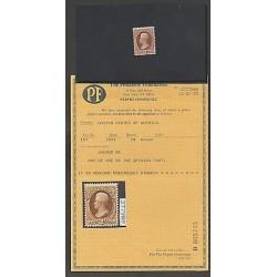 O) 1873 UNITED STATES - USA, JEFFERSON - 2 CENTS - BROWN, SCT 157, UNUSED OG, CE