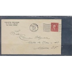 O) 1927 UNITED STATES -USA, 2 CENTS - WASHINGTON, COVER FROM EL PASO TEXAS TO ME